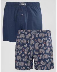 Esprit - Boxers 2 Pack In Paisley - Lyst
