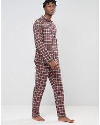 Esprit - Pyjamas In Flannel Check In Regular Fit - Lyst