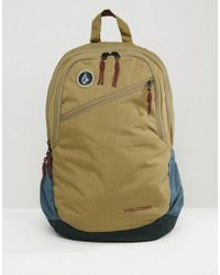 Volcom - Substrate Backpack In Dessert Tan - Lyst