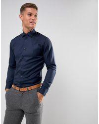 SELECTED - Slim Easy Iron Smart Shirt - Lyst