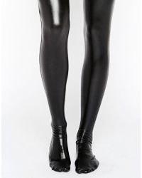 Leg Avenue - Wet Look Thigh High Tights - Lyst