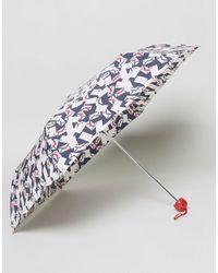 Lulu Guinness - Superslim Envelope Print Umbrella - Lyst