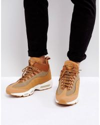size 40 719d4 c9de3 ... where to buy nike air max 95 sneakerboots flax trainers in beige 806809  201 lyst fbcd4 ...