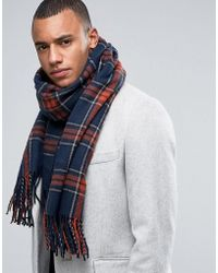 Jack & Jones - Scarf In Woven Check - Lyst
