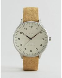 Newgate Watches - Blip Suede Strap Watch With Cream Dial - Lyst