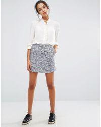 Suncoo - Printed Mini Skirt - Lyst