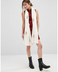 Nali - Multi Colour Embroidery Lightweight Scarf - Lyst
