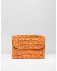 Nali - Straw Envelope Clutch Bag - Lyst