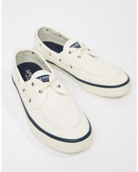 Sperry Top-Sider - Topsider Trainer Boat Shoes In White - Lyst