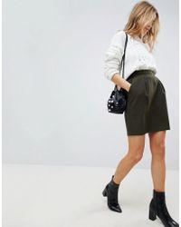 ASOS - Tailored Ruffle Paperbag Waist A-line Mini Skirt - Lyst