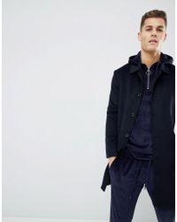 Mango | Man Handmade Wool Coat In Black | Lyst