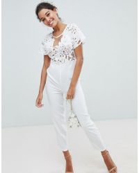 Love Triangle - Lace Jumpsuit - Lyst
