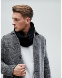 Esprit - Cable Snood In Black - Lyst