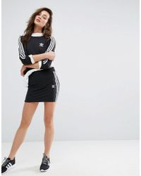 adidas Originals - Originals Black Three Stripe Skirt - Lyst