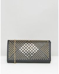 Yoki Fashion | Yoki Stud Clutch Bag | Lyst