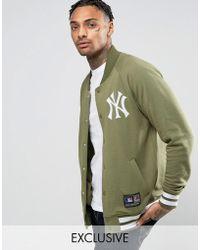 Majestic Filatures - Yankees Fleece Letterman Jacket Exclusive To Asos - Lyst