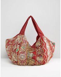 Raga - Embroidered Shoulder Bag - Lyst
