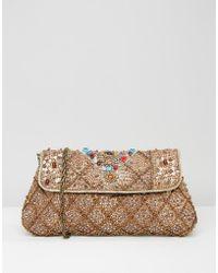 Raga - Embellished Cora Clutch Bag - Lyst