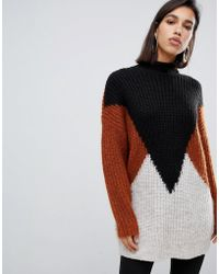 Y.A.S - Y..a.s Tall Oversize Colourblock Knitted Jumper - Lyst
