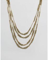 Raga - Multi Strand Gold Necklace - Lyst