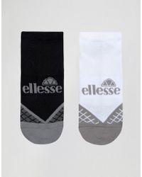 Ellesse - 2 Pack Trainer Socks - Black/white - Lyst