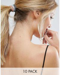 ALDO - Multipack Metallic Hair Ties - Lyst