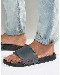 Slydes - Slider Flip Flops In Iridescent - Lyst