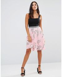 Wal-G - Pleated Floral Skirt - Lyst