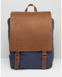 Forbes & Lewis - Leather Devon Backpack In Navy - Lyst