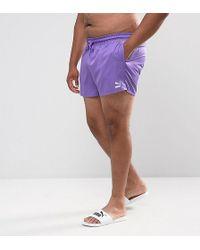 PUMA - Plus Retro Swim Shorts In Purple Exclusive To Asos 57659602 - Lyst