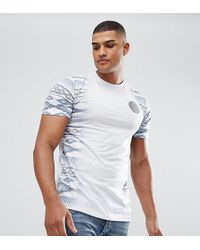 Jacamo | Tall T-shirt With Aztec Fade In White | Lyst