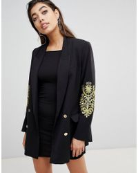 Ivyrevel - Double Breasted Blazer With Embroidery At Sleeves - Lyst