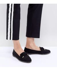 bbfcf93fbbb Lyst - Asos Wide Fit Maxfield Leather Fringed Loafers in Black