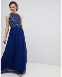 a7c32a45ac6 Frock and Frill - Frock   Frill Maxi Dress With Heavily Embellished Body -  Lyst