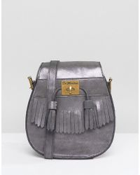 Dr. Martens - Pewter Suede Tassle Shoulder Bag - Lyst