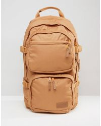 Eastpak Padded Pak'r Leather Backpack In Brown in Brown for Men | Lyst