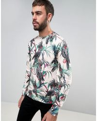 PS by Paul Smith - Crew Sweatshirt Cockatoo Print In Pink - Lyst