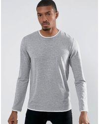 Esprit - Long Sleeve T-shirt With Contrast Hem Details - Lyst