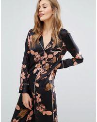 Y.A.S - Dark Floral Pyjama Shirt - Lyst