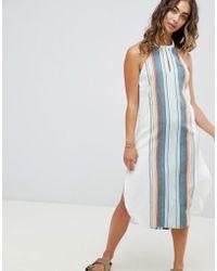 ddff7b5b14 One Teaspoon Denim Dunagree Dress With Raw Hem And Rip Detail in ...