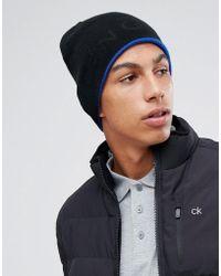 Calvin Klein - Relief Beanie In Black - Lyst