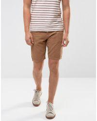 ASOS - Cord Shorts In Tan - Lyst