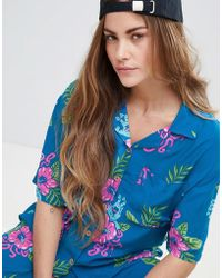 Santa Cruz - Tropical Shirt With All Over Screaming Hand Graphic Co-ord - Lyst