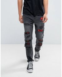 Cayler & Sons - Skinny Jeans In Black With Distressing - Lyst