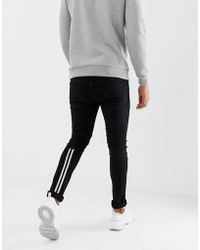 Religion - Low Rise Skinny Fit Jeans With Taping - Lyst