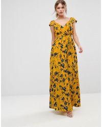 Traffic People - Floral Chiffon Maxi Dress - Lyst