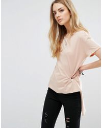 ONLY - Hi-lo T-shirt - Lyst