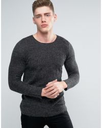 Lindbergh - Jumper With Loose Mohair Knit In Grey - Lyst
