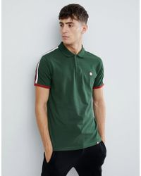 Pretty Green - Moon Pique Polo Shirt In Green - Lyst
