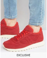 Saucony - Jazz Trainers In Red S70246-1 Exclusive To Asos - Lyst